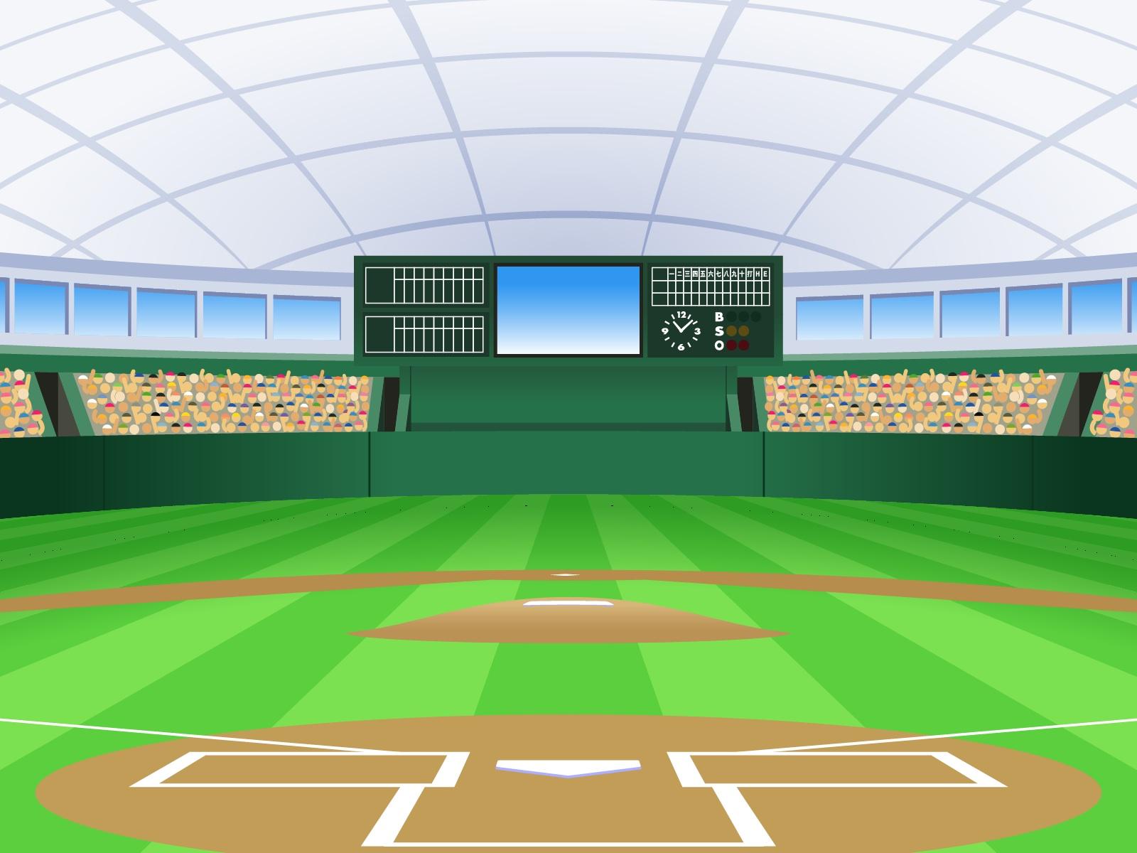 プロ野球 野球場イラスト